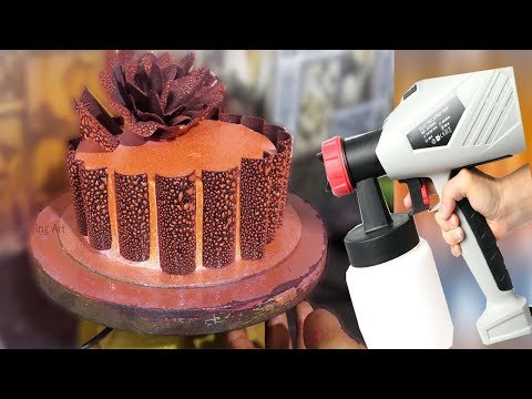 How To Airbrush A Cool Cake | So Yummy Cake Decorating Art