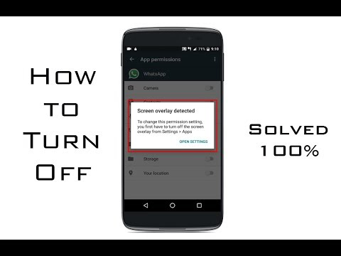How To Turn Off App Overlay L 100% Solved Turn Off Screen Overlay Detected   Any Android Marshmallow