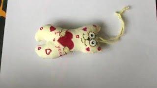 Котик с сердечком - мягкая сшитая игрушка своими руками