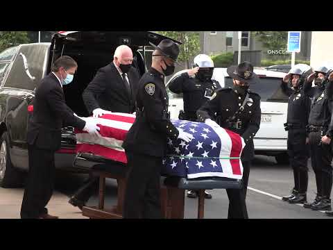 SDPD funeral procession for married detectives