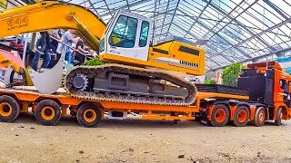 FANTASTIC RC trucks  and construction machines at RC Glashaus!