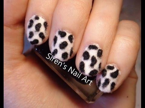 Fur Effect Dalmatian Print Nail Art Youtube
