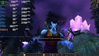 World of Warcraft AMD Ryzen 3 2200G Vega 8 Gameplay Benchmark Test