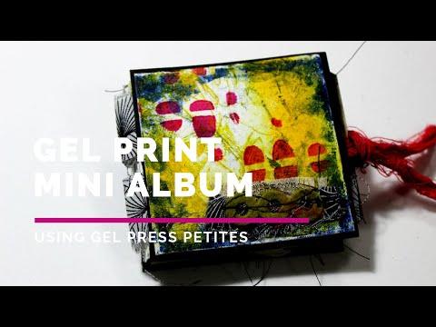 Gel Press Petites Mini Album, using just 1 sheet of 12X12 paper