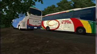 Euro Truck Simulator 2 mod bus indonesia 'PMH in action'