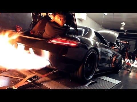RADO Twin-Turbo Mercedes AMG SLS - Amazing Dyno FIREBALL!