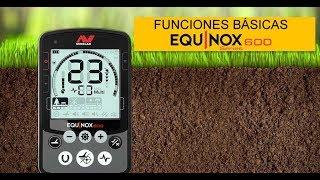 Funciones Minelab Equinox 600 Detector de Metales Español review
