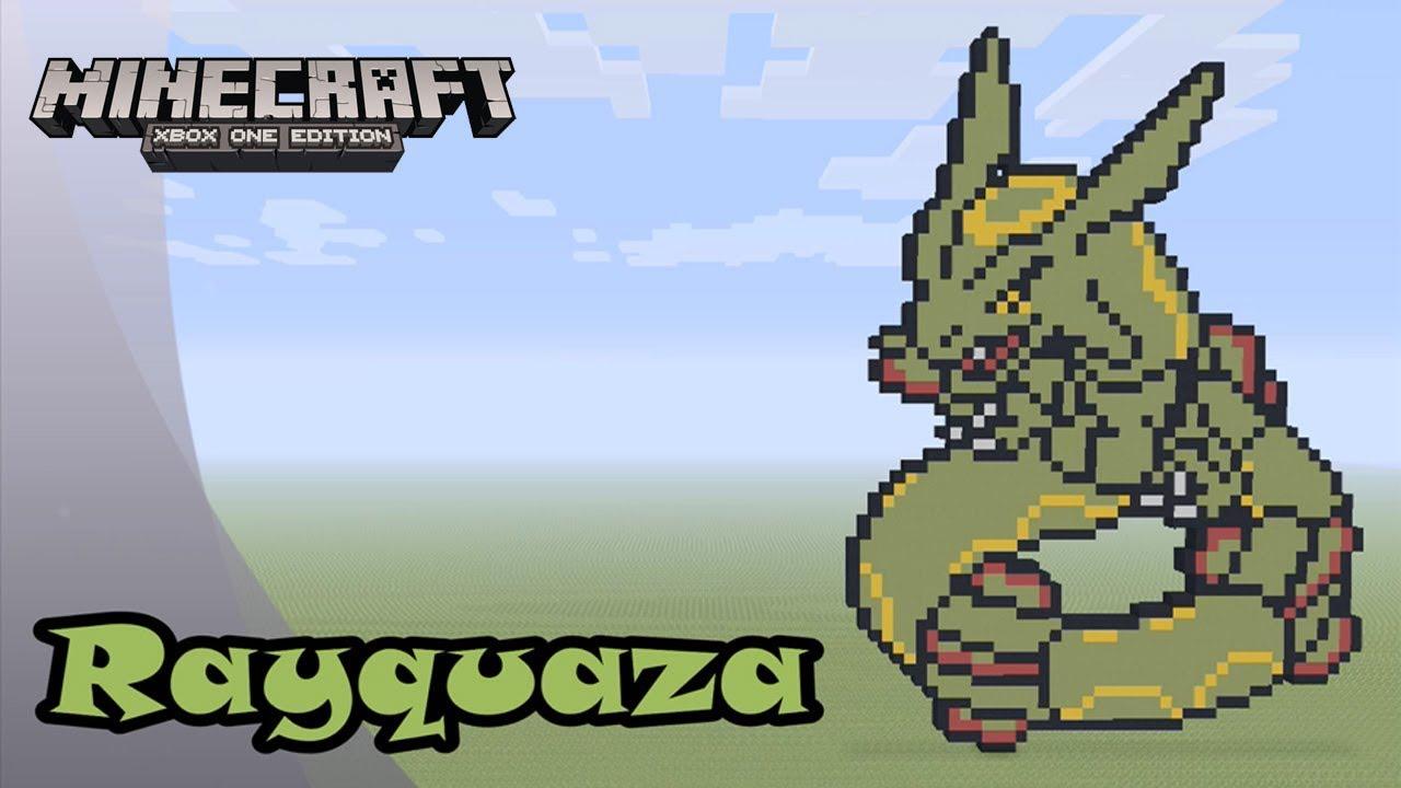 Minecraft Pixel Art Tutorial And Showcase Rayquaza Pokemon
