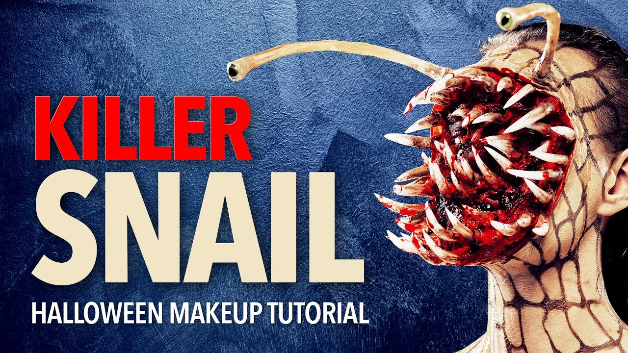 Killer snail Halloween makeup tutorial