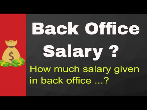 Back Office Salary   How Much Salary Pay In Back Office For Fresher And Experience