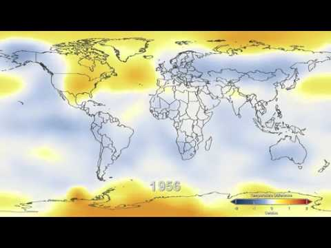 Youtube video by NASA : global warming : temperature map