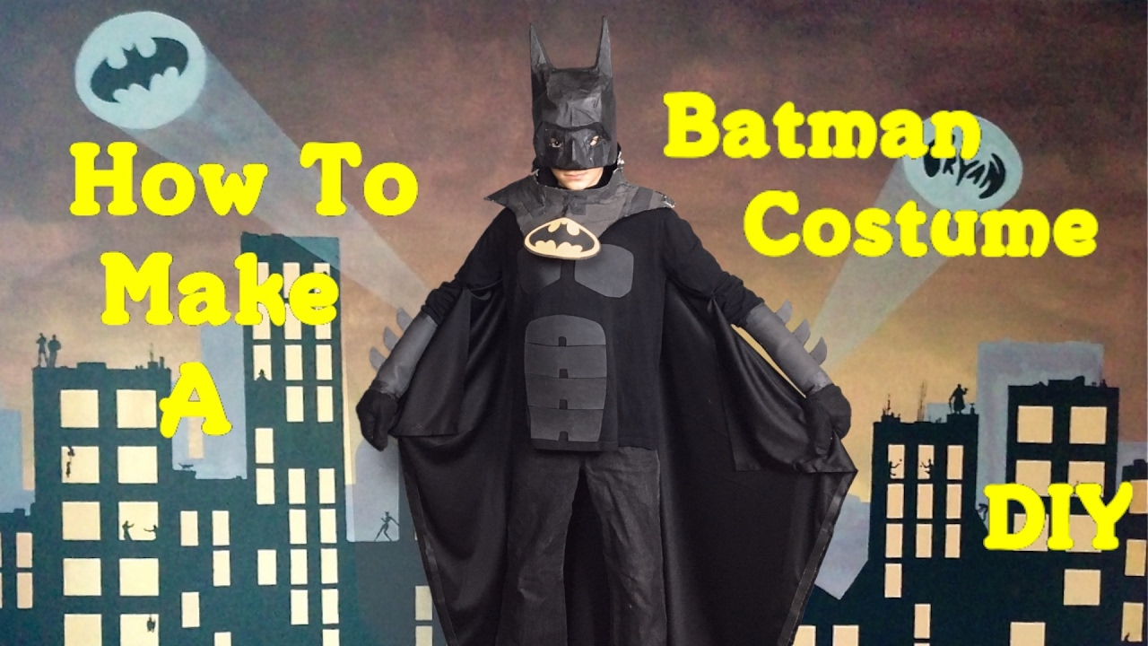 Make your own batman costume diy youtube solutioingenieria Image collections