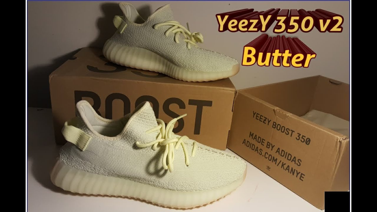 062bef5301364 YEEZY 350 V2 BUTTER review from dhgate - YouTube