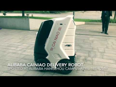 Alibaba Cainiao E-commerce Logistics Delivery Robot by China TMall Global Parntner Web2Asia