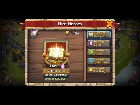 Castle Clash Roll 100 Heroes Got Landwalker
