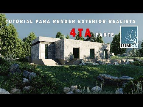LUMION 9 RENDER EXTERIOR REALISTA - CASA DE CAMPO PARTE 4