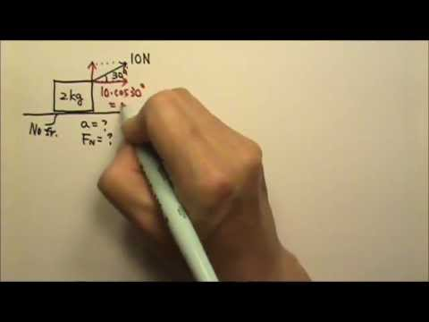 AP Physics 1: Forces 11: Single-Object 2-D Pull or Push with Slanted Force