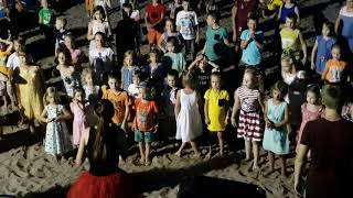 2) Tui Fun & Sun Club Saphire 5* 18.06.18 детская дискотека на пляже