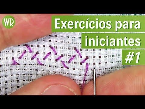 ❌2 exercícios simplespara INICIANTES #1 - ponto cruz avesso PERFEITO