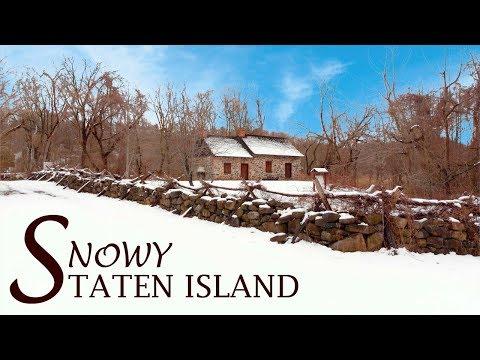 Snowy Staten Island | Aerial Film (Mavic Air)