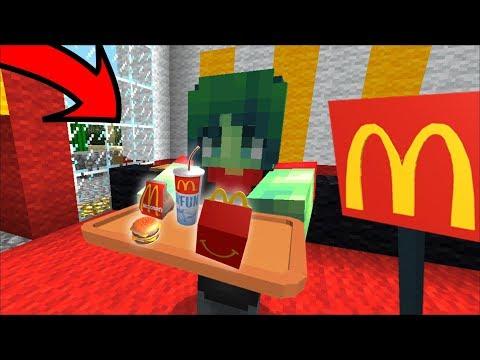 Minecraft MCDONALDS WORK AS A ZOMBIE FAMILY !! MCDONALDS MOD DELIVERY SERVICE !! Minecraft Mods