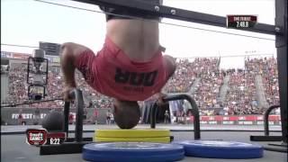 2012 Crossfit Games - Medball-handstand Push-up: Men, Heat 2
