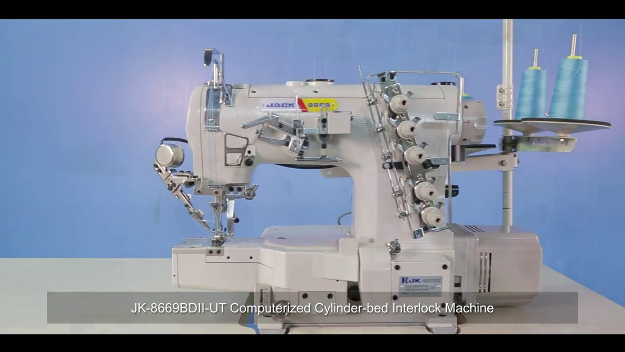 Jack JK-K4 - Плоскошовная швейная машина для трикотажа - YouTube