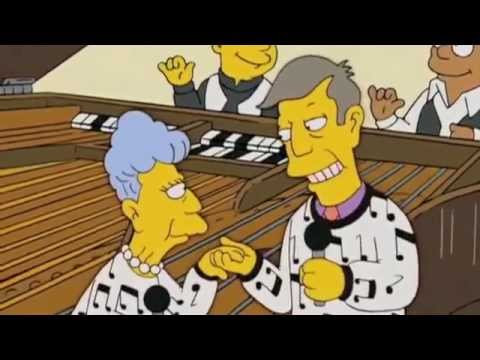 Skinner sings with her mother Ebony and Ivory- The Simpsons