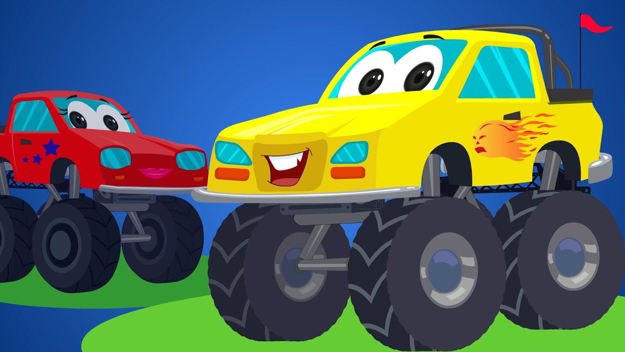 Little Red Car Rhymes Monster Truck Songs Rig A Jig Jig