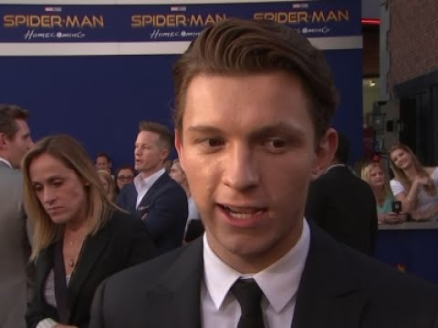 Holland speechless at Spidey premiere