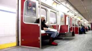 Bold Subway Operator Warning Passengers