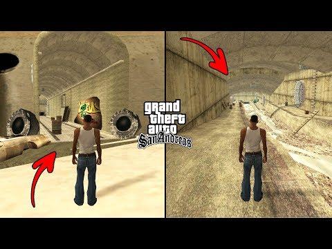 Secret Tunnels Under Los Santos in GTA San Andreas! (Hidden Places)