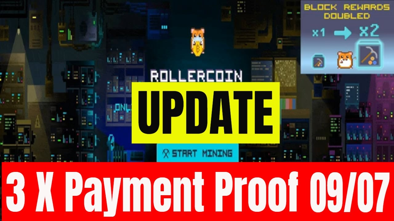 Rollercoin Virtual Cloud Mining Update + 3 x Payment Proof Earn Free Crypto