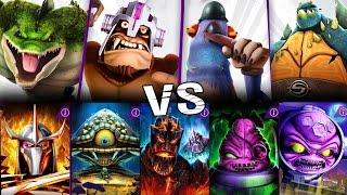 Mighty Mutanimals vs ALL BOSSES of Story mode in Teenage Mutant Ninja Turtles Legends gameplay 2017
