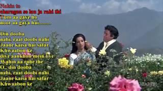 Tum Aa Gaye Ho ( AANDHI ) Karaoke With Female vocal Created By SANDEEP SINGH BAJAJ