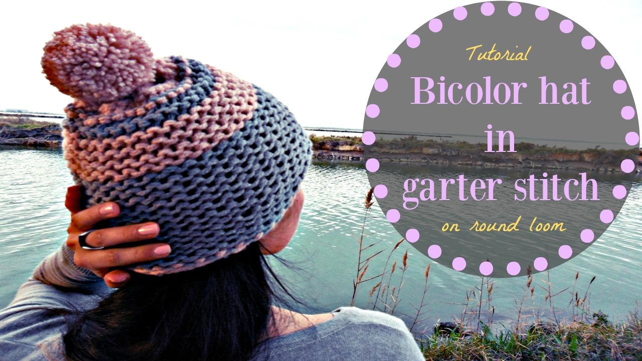Undo Knitting Garter Stitch : EASY KNITTED BICOLOR HAT IN GARTER STITCH - YouTube
