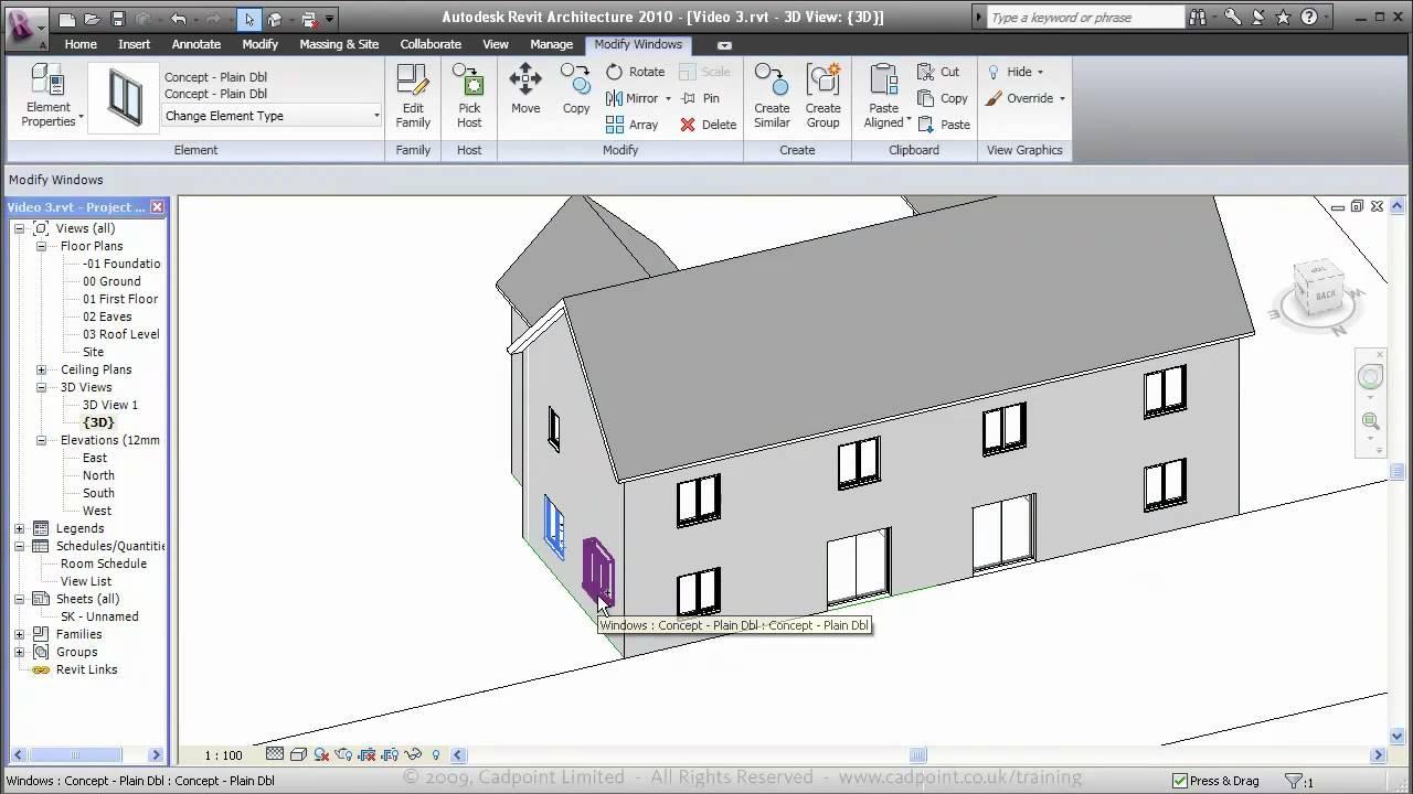 Revit Architecture Residential House Design 3 Part 60