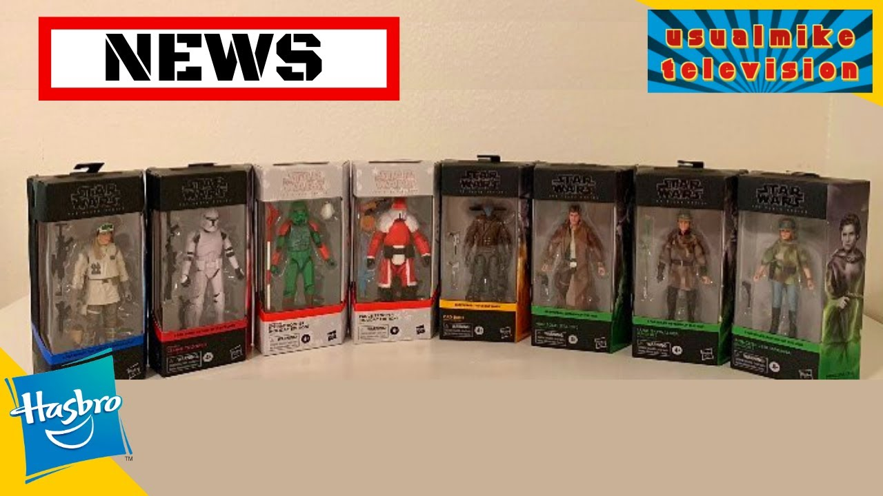 STAR WARS ACTION FIGURE NEWS FIRST LOOK AT NEXT WAVE OF BLACK SERIES INC HOLIDAY TROOPERS & UNBOXING