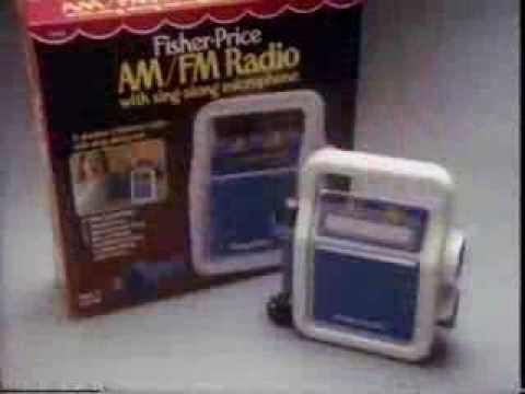 80's Ads: Fisher Price AM/FM Radio With Microphone