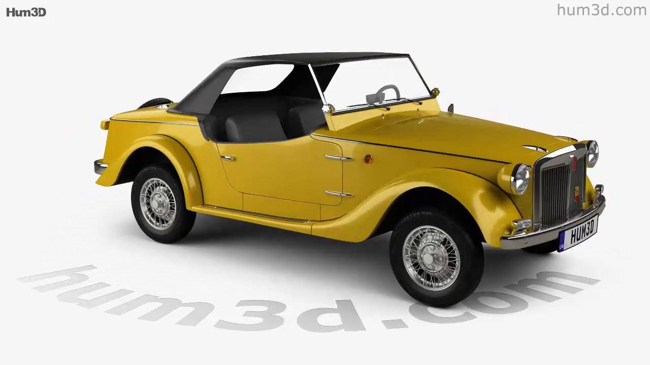 Fiat Siata Spring 1968 3D Model By Hum3D