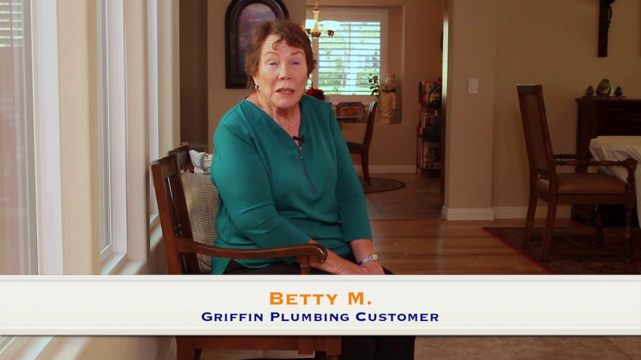 Griffin Plumbing Santa Maria Orcutt Authentic 5 Star Customer Review By Betty M