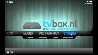 Tutorial | Installeer de addon installer (www.tvbox.nl)