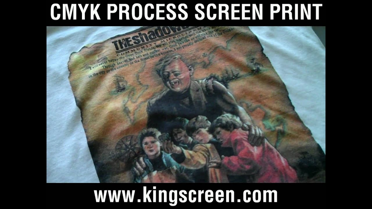 Cmyk 4 color process screen printing on t shirts youtube for 4 color process t shirt printing