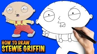 How to draw Stewie Griffin - Family Guy - Easy step-by-step drawing lessons