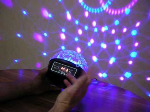 светодиодный диско шар c usb - YouTube