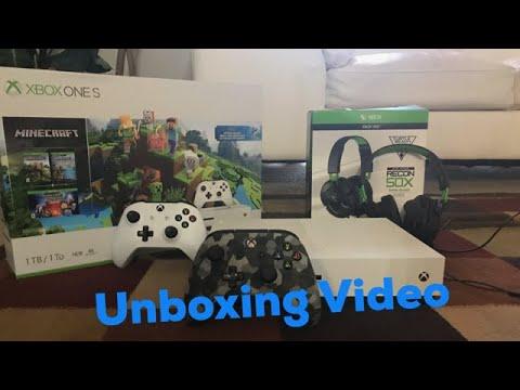Unboxing New Xbox One S Minecraft Bundle!!!