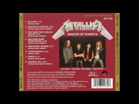 Metallica - master of puppets remastered 2017 (full album) HD