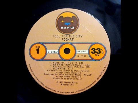 Foghat - Fool For The City, Full Album [1975]