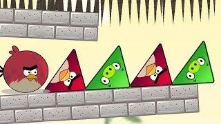 Angry Birds Pigs Out - SAVE TRIANGLE BIRDS FROM TRIANGLE PIGS SKILL GAME!