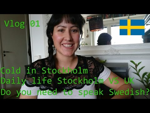 Vlog 01: Cold in Stockholm, Daily Life VS Uk, Speaking Swedish